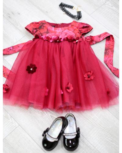 キッズ衣裳 赤ドレス(2歳)