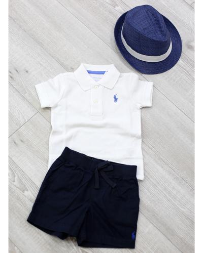 キッズ衣裳 ラルフローレン白ポロシャツ(1歳)