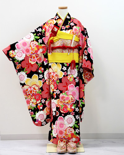[No.14100015]七五三衣裳用の着物(黒)