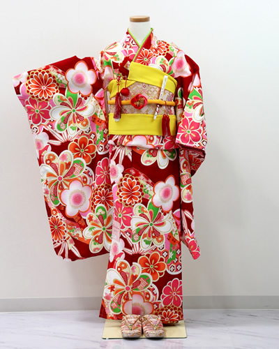[No.14100016]七五三衣裳用の着物(梅)