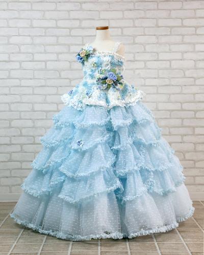 [No.121000023]キッズドレス(9歳・ブルー)