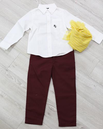 キッズ衣裳 コムサイズムパンツ+白シャツ(5歳)