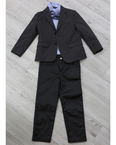 キッズ衣裳 ラルフローレンシャツ+コムサイズムジャケット+パンツ(6-7歳)