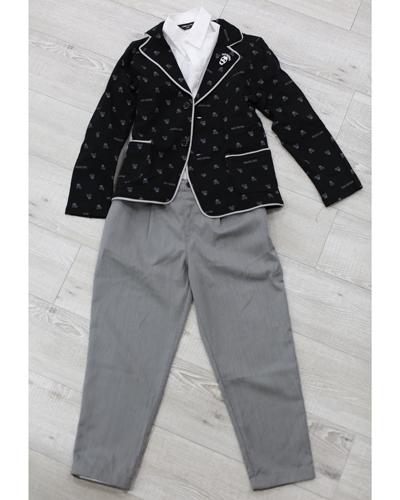 キッズ衣裳 コムサイズム白シャツ+ジャケット+パンツ(8-9歳)