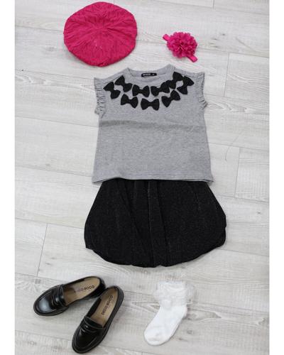キッズ衣裳 グレートップス+ラメスカート(3-4歳)