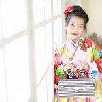 七五三7歳、着物とドレスを着て江東区写真館でお撮りいたしました