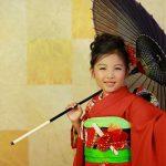 七五三 7歳の和装、ドレス、バレエ写真を東陽町にある写真館でお撮りいたしました